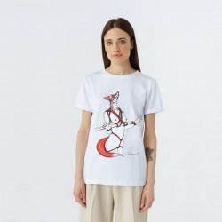 White women T-shirt Red Fox