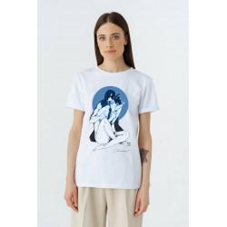 White women T-shirt...